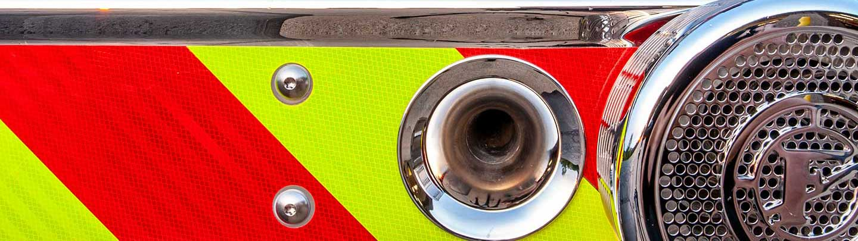 Bumper of a fire engine.