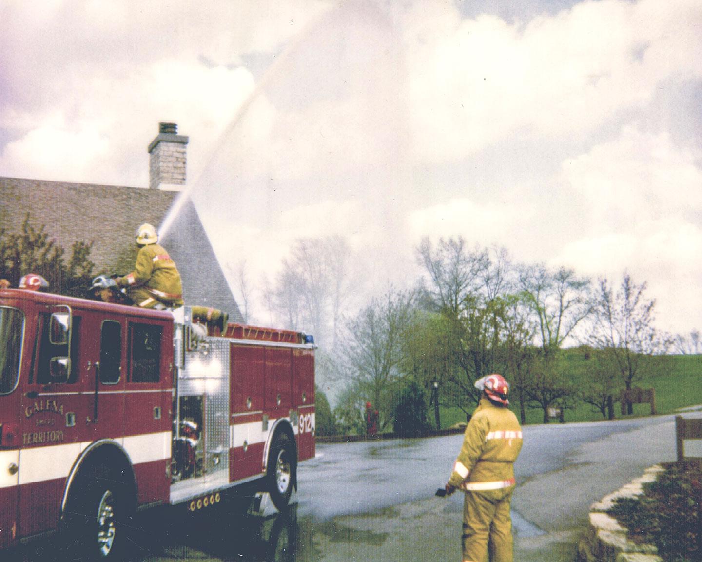 Firefighters practice at Eagle Ridge Inn